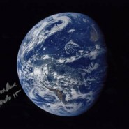Al Worden Autographed Earth Print