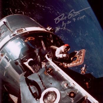 Dave Scott Autographed Apollo 9 Command Module Print