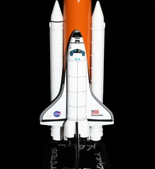 U.S. Astronaut Hall of Fame Class of 2010 Autographed Space Shuttle Model