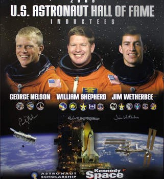 US Astronaut Hall Of Fame Class of 2009 Autographed Commemorative Poster
