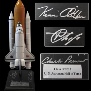 2012 Induction Autographed Shuttle Atlantis Model